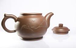 Gliniany teapot Obraz Royalty Free