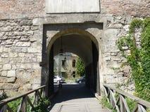 Glinsky Gate on Volodymyr Vynnychenko street in Lviv royalty free stock image