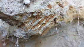 Gliny skały warstwy zdjęcie stock