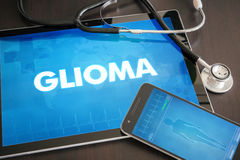 Gliona (cancer type) diagnosis medical concept on tablet screen. With stethoscope stock photo