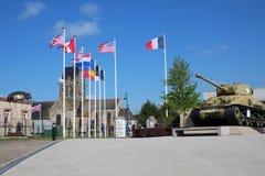 Glise aerotransportado del ‰ de Sainte-Mère-à del museo imagen de archivo libre de regalías