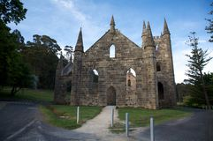 Église antique dans le Port Arthur, Tasmanie, Australie Photo libre de droits