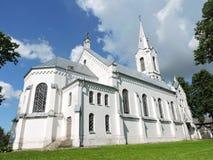 Église blanche, Lithuanie Photos stock