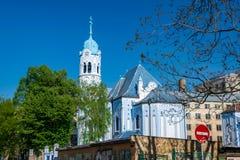 Église bleue romantique de St Elizabeth à Bratislava, Slovaquie photos stock