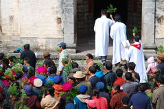 Église catholique dans le pays chinois Photographie stock libre de droits