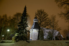 Église d'hiver Images libres de droits