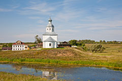 Église d'Ilinsky chez Suzdal Photo stock