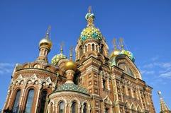 Église dans le St Petersbourg, Russie Photos stock