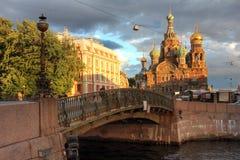 Église dans le St Petersbourg, Russie Photographie stock