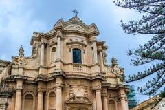 Église dans Noto Photographie stock libre de droits