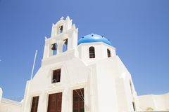 ?glise dans Santorini photos stock