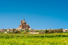 Église dans Xewkija Gozo Image stock
