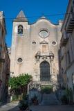 Église de Chiesa del Purgatorio Cefalu, Sicile Image libre de droits
