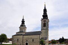 ?glise de la nativit? de la Vierge b?nie Sremska Kamenica serbia image stock