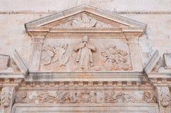 Église de mère de Polignano une jument La Puglia l'Italie Image libre de droits