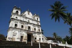 Église de Reis Magos, Goa Image stock