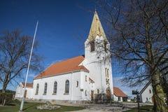 Église de Rolvsøy (d'ouest nord-ouest) Photo stock