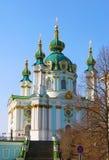 Église de rue Andrew, Kiev, Ukraine Photos libres de droits