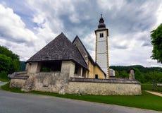 Église de rue Jean-Baptist Photo stock