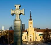 Église de rue John, Tallinn Images stock