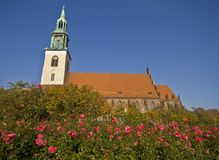 Église de rue Mary à Berlin Photo stock