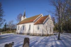 Église de Skjeberg-vallée (sud-est) Photographie stock libre de droits