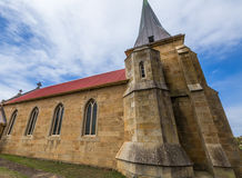 Église de St Johns à Richmond, Tasmanie Photos stock