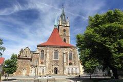 Église de St Peter et de Paul dans Caslav Image libre de droits