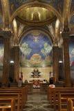Église de toute la vue intérieure de nations avec l'abside Image libre de droits
