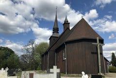 ?glise de village en Pologne, Borzyszkowy images libres de droits