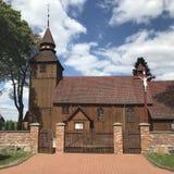 ?glise de village en Pologne, Brzezno Szlacheckie images stock