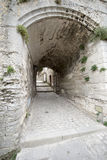 Glise do ‰ de l'Ã da rua, Les Baux-de-Provence, França Imagem de Stock
