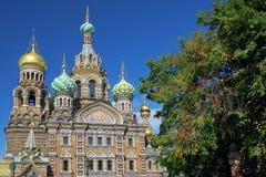 Église du sauveur sur le sang renversé, St Petersburg Images libres de droits
