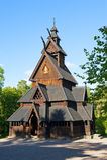 Église en bois Image stock
