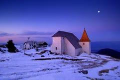 Église en hiver Photo libre de droits