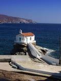 Église - île d'Andros, Grèce Photo libre de droits