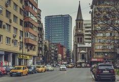 Église luthérienne, Bucarest, Roumanie Photographie stock libre de droits