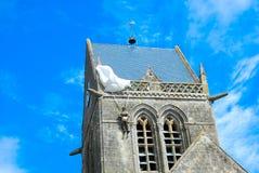 Glise Normandia del ‰ di Sainte Mère à fotografia stock libera da diritti