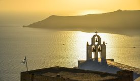 ?glise orthodoxe grecque sur l'?le de Santorini photo libre de droits