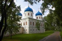 Église orthodoxe russe de monastère de Juriev Photographie stock libre de droits