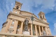 Église rotunda de Mosta, Malte Photos stock