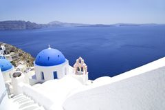 ?glise sur Santorini photo stock