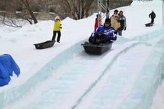 Glissement de glace Images libres de droits