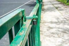 Glissement de la porte de barrière Photos libres de droits