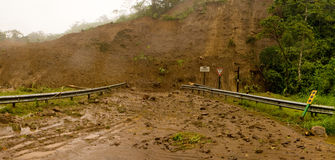 Glissement de terrain Photo stock