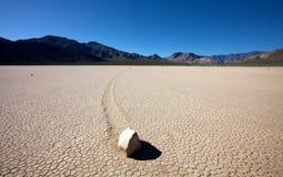 Glissement des roches chez Death Valley Image stock