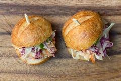 Glisseurs d'hamburger Images stock