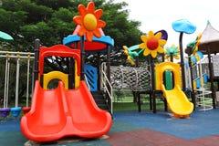 Glissez, parc d'attractions Images libres de droits