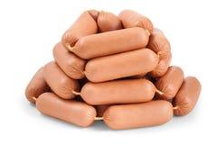 Glissière de beaucoup de saucisses Photo stock