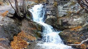 Glissière de canyon de Battle Creek en automne image libre de droits